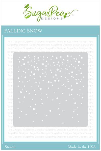 SugarPea Designs - Falling Snow Stencil