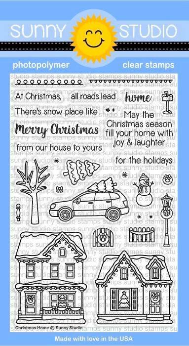 Sunny Studio - Christmas Home Stamp Set
