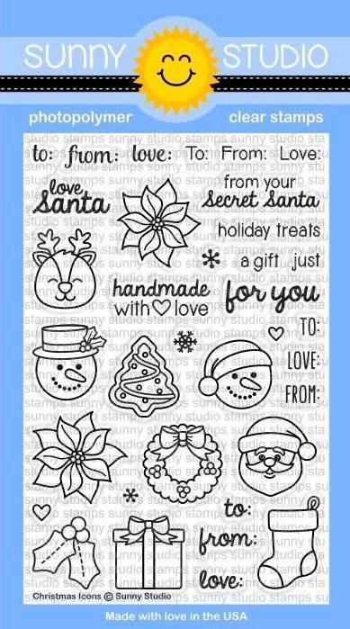 Sunny Studio - Christmas Icons Stamp Set