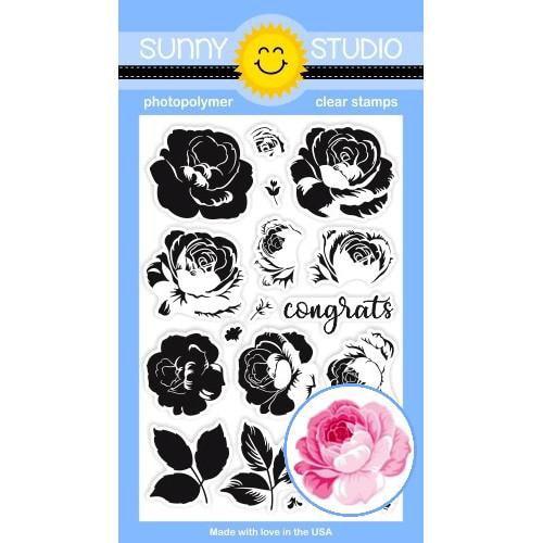 Sunny Studio - Everything's Rosy Stamp Set