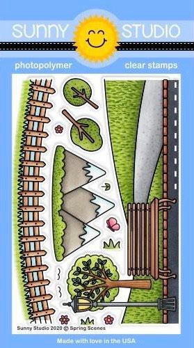 Sunny Studios - Spring Scenes Stamp Set