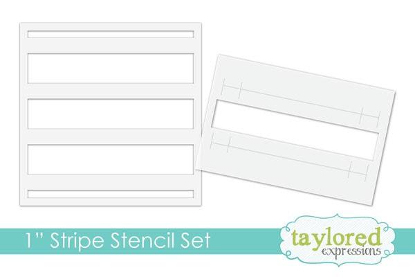 Taylored Expressions - Masking Stencil: 1 Stripe Set