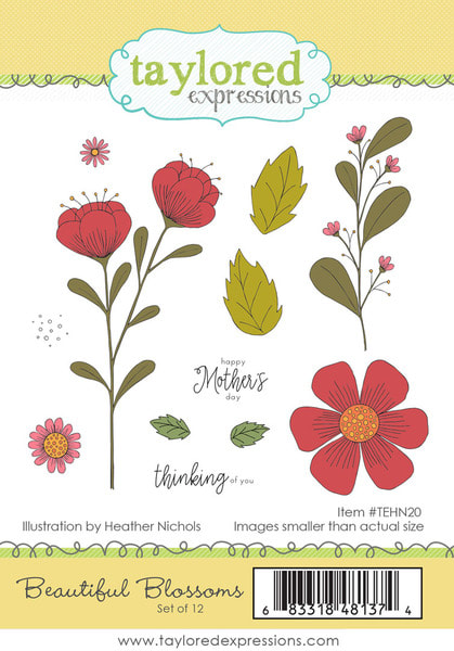 Taylored Expressions - Beautiful Blossoms Stamp Set
