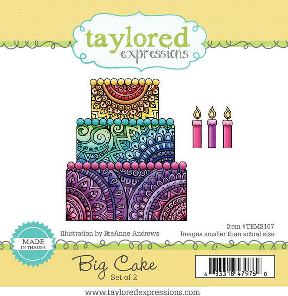 Taylored Expressions - Big Cake Stamp/Die Set