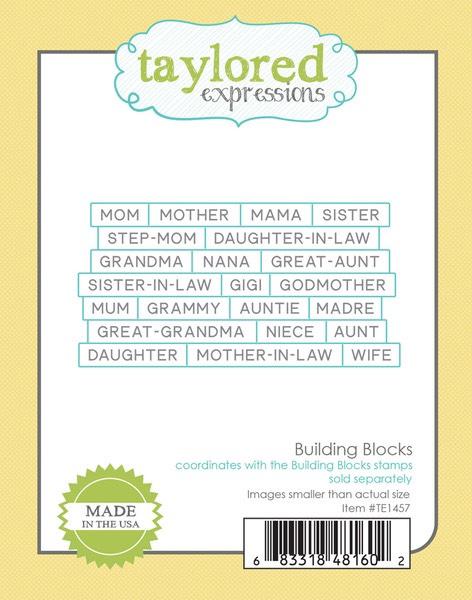 Taylored Expressions - Building Blocks Die