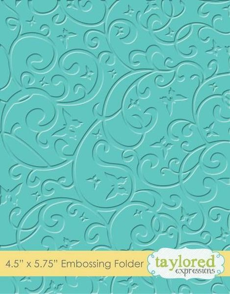Taylored Expressions - Butterfly Swirl Embossing Folder