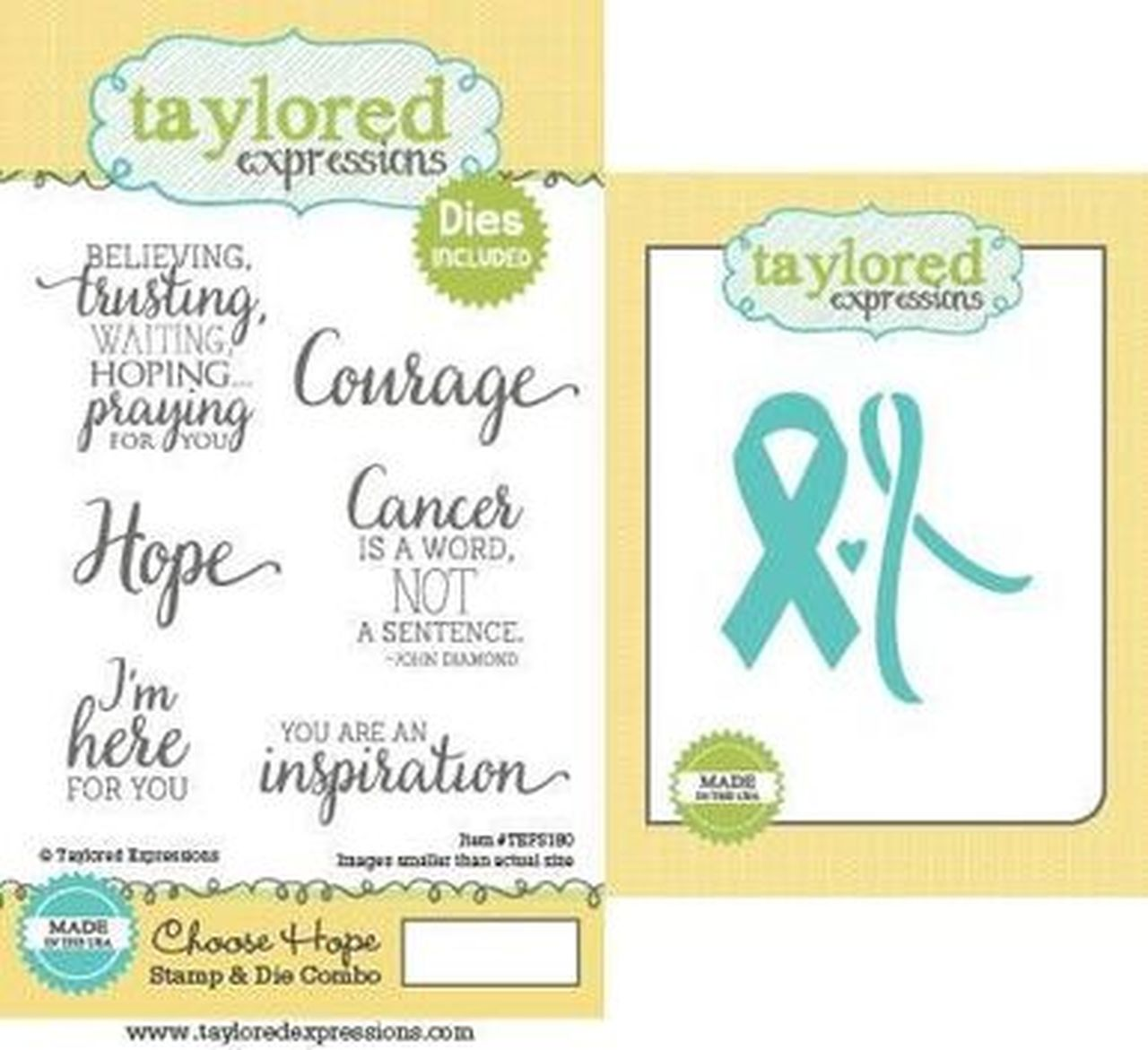 Taylored Expressions - Choose Hope Stamp & Die Combo