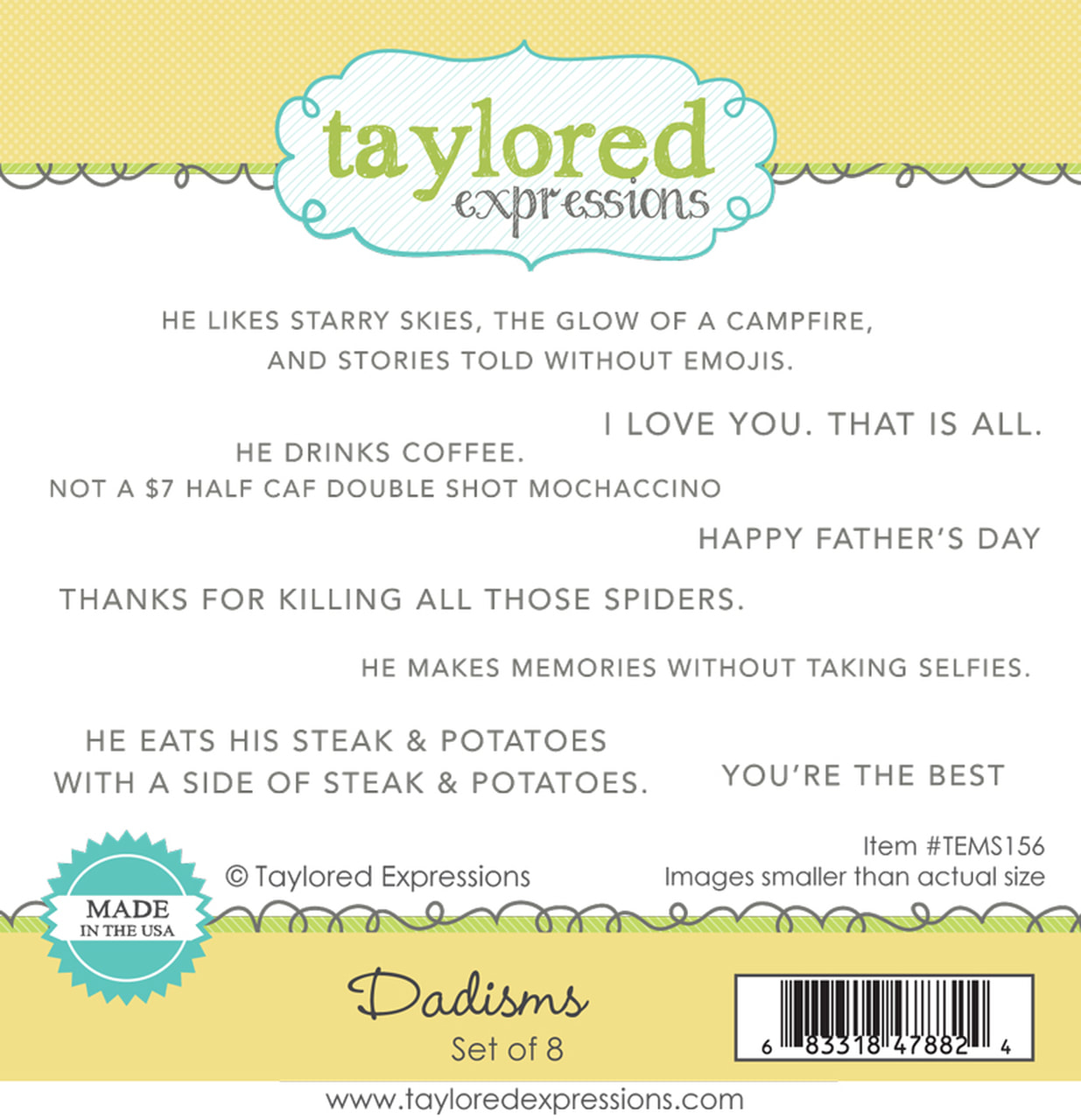 Taylored Expressions - Dadisms Stamp Set