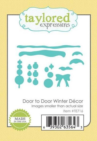 Taylored Expressions - Door to Door Winter Decor Die Set