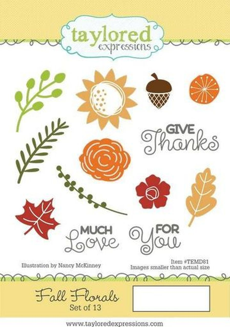 Taylored Expressions - Fall Florals Stamp Set
