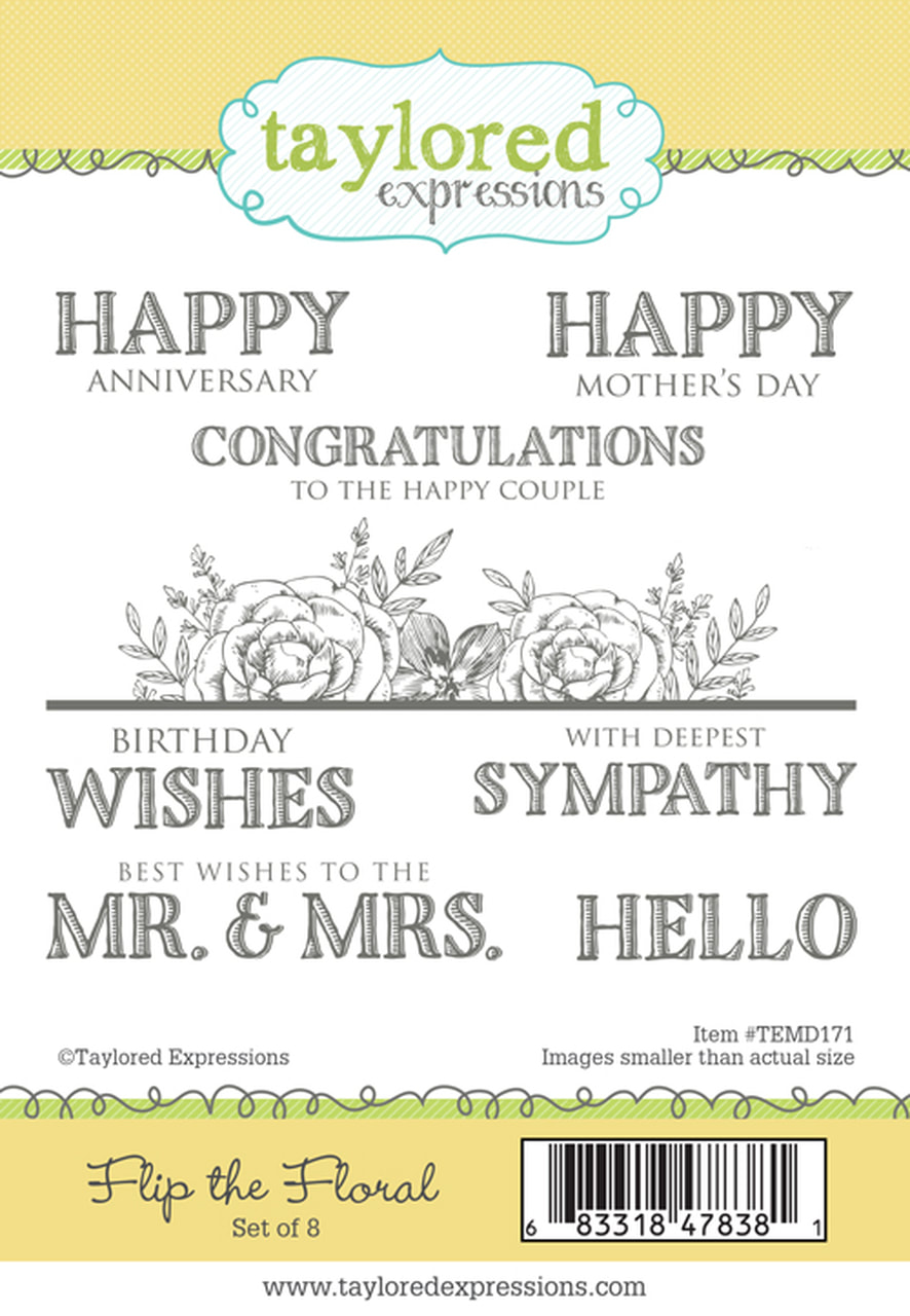 Taylored Expressions - Flip the Floral Stamp Set