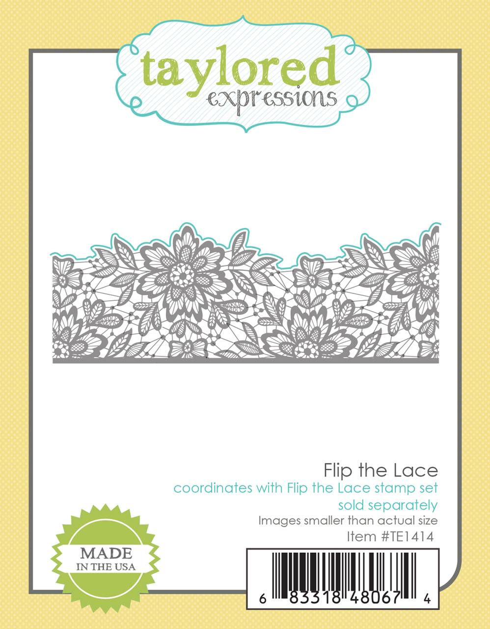 Taylored Expressions - Flip the Lace Stamp Set