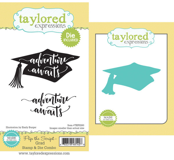 Taylored Expressions - Flip the Script: Grad Stamp & Die Combo