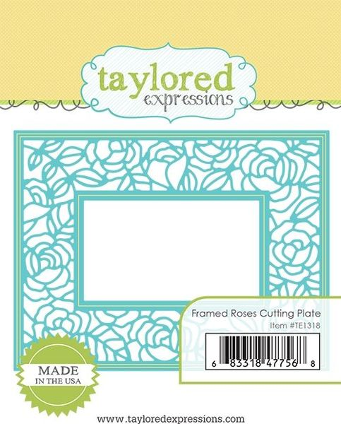 Taylored Expressions - Framed Roses Cutting Plate
