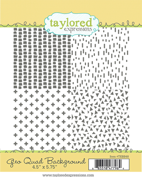 Taylored Expressions - Geo Quad Background Stamp