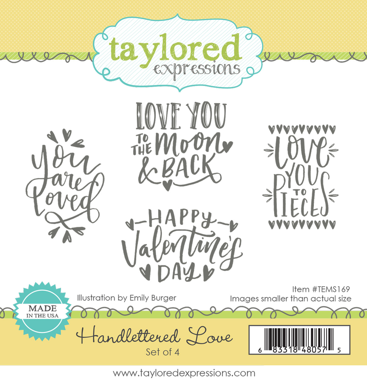 Taylored Expressions - Handlettered Love Stamp Set