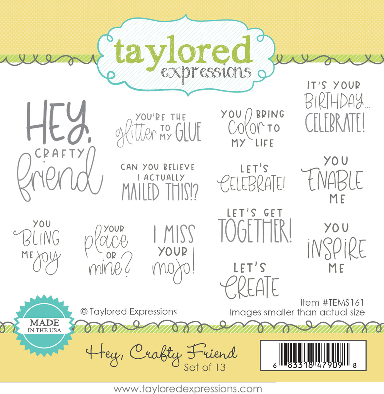 Taylored Expressions - Hey, Crafty Friend Stamp Set