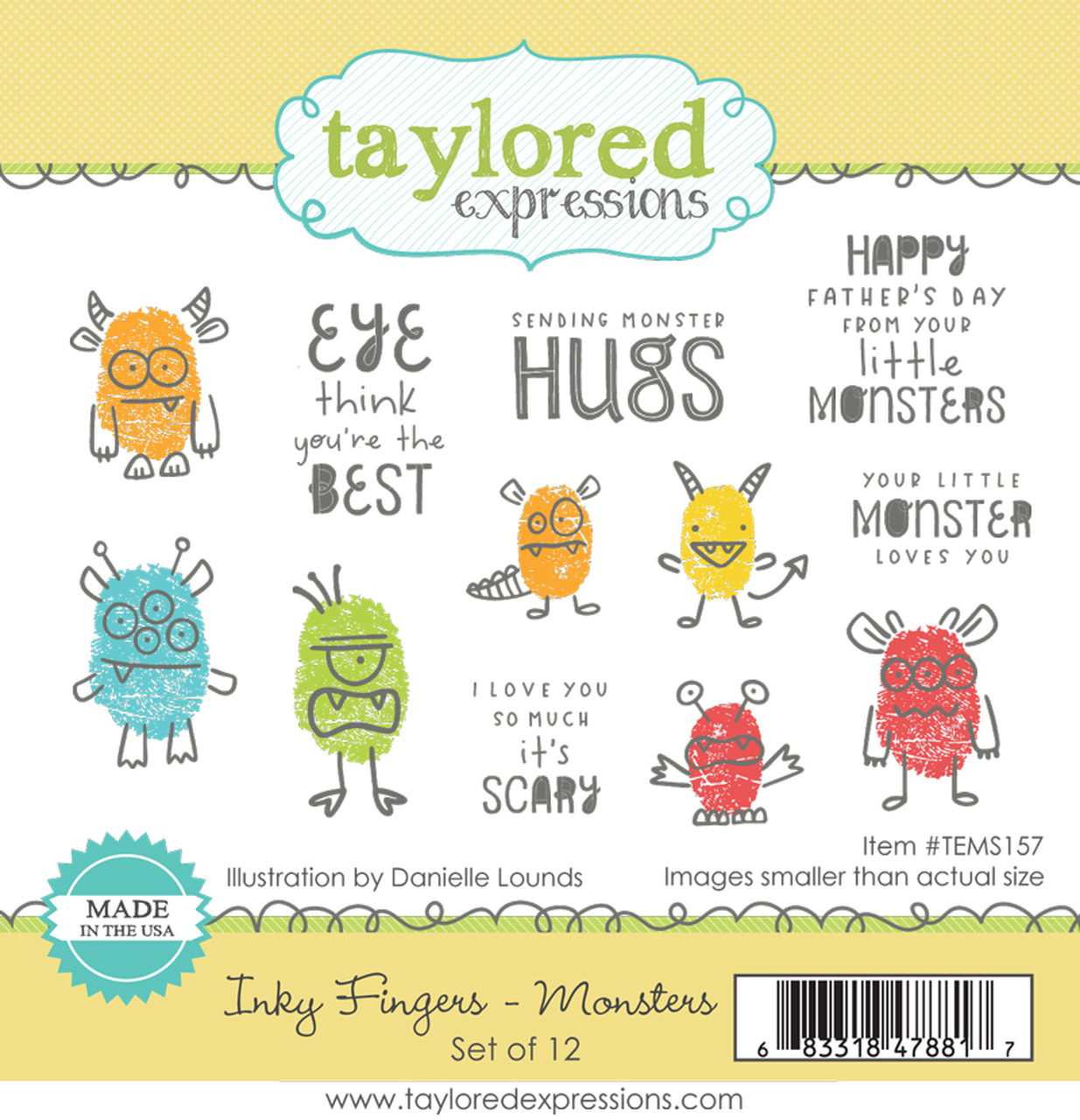 Taylored Expressions - Inky Fingers, Monsters Stamp Set