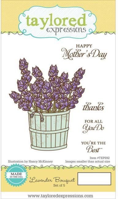 Taylored Expressions - Lavender Bouquet Stamp Set