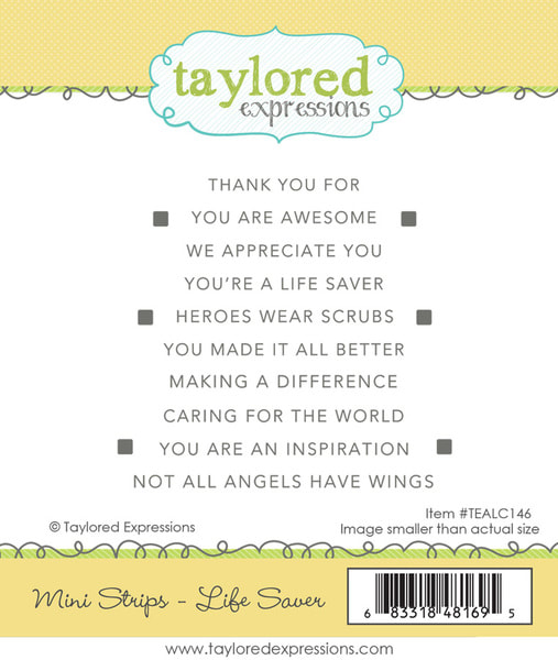 Taylored Expressions - Mini Strips: Life Saver Stamp Set