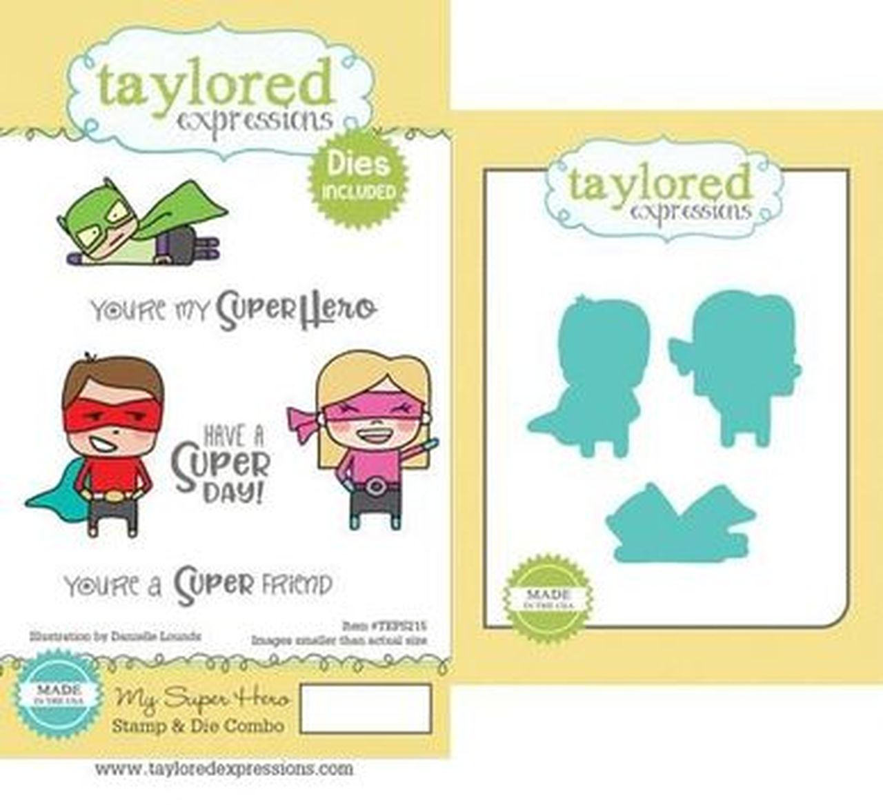 Taylored Expressions - My Super Hero Stamp & Die Combo