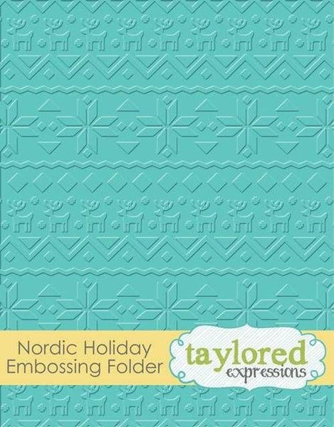 Taylored Expressions - Nordic Holiday Embossing Folder