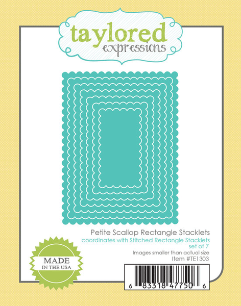 Taylored Expressions - Petite Scallop Rectangle Stacklets Die Set