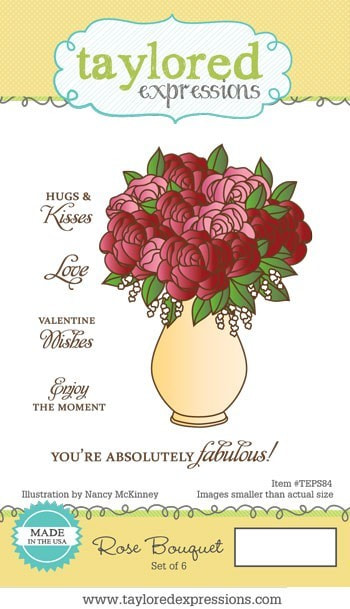 Taylored Expressions - Rose Bouquet Stamp and Die Combo Set