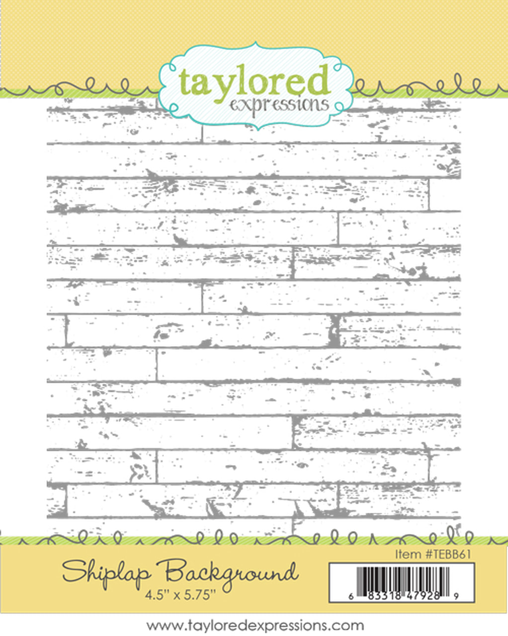 Taylored Expressions - Shiplap Background Stamp