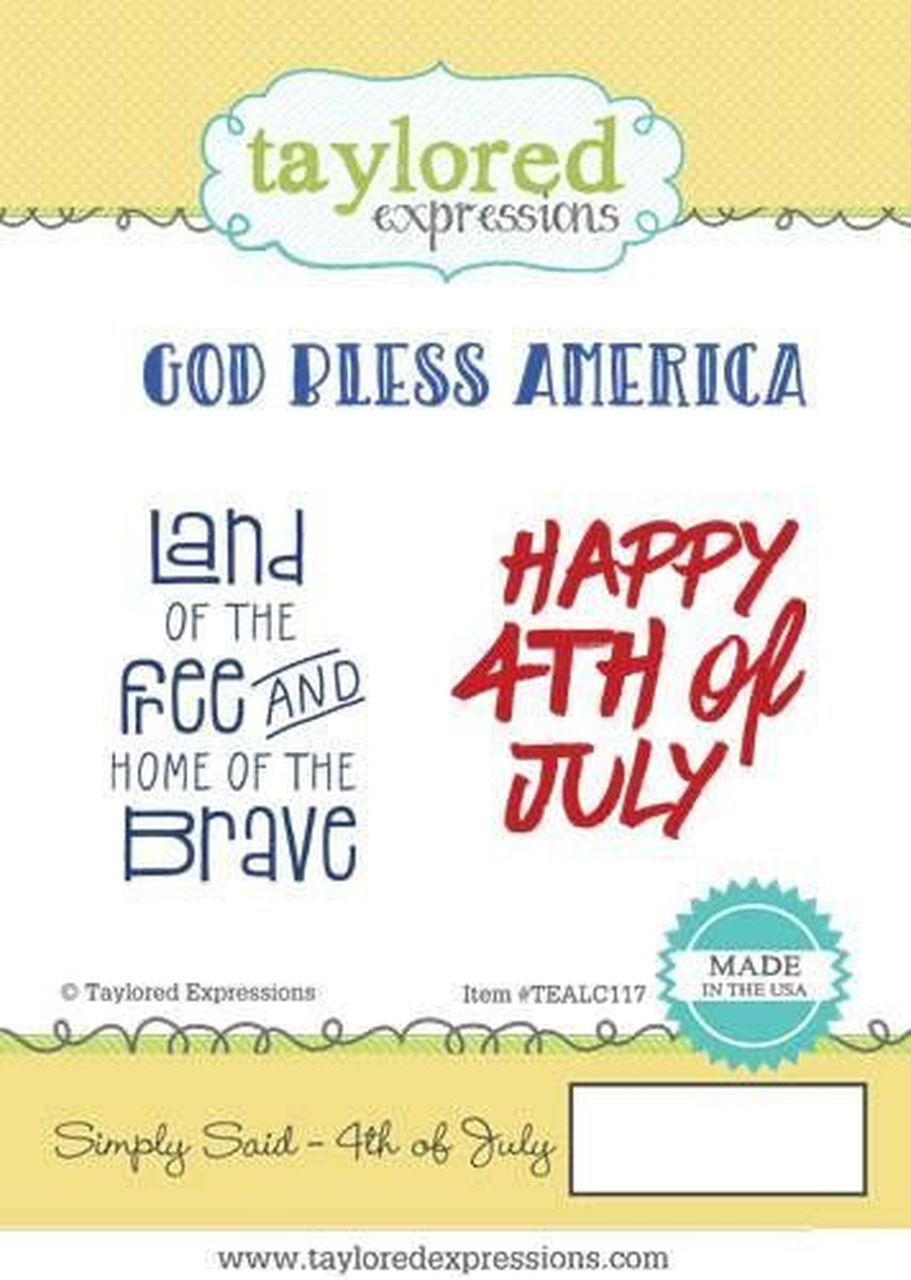 Taylored Expressions - Simply Said, 4th of July Stamp Set