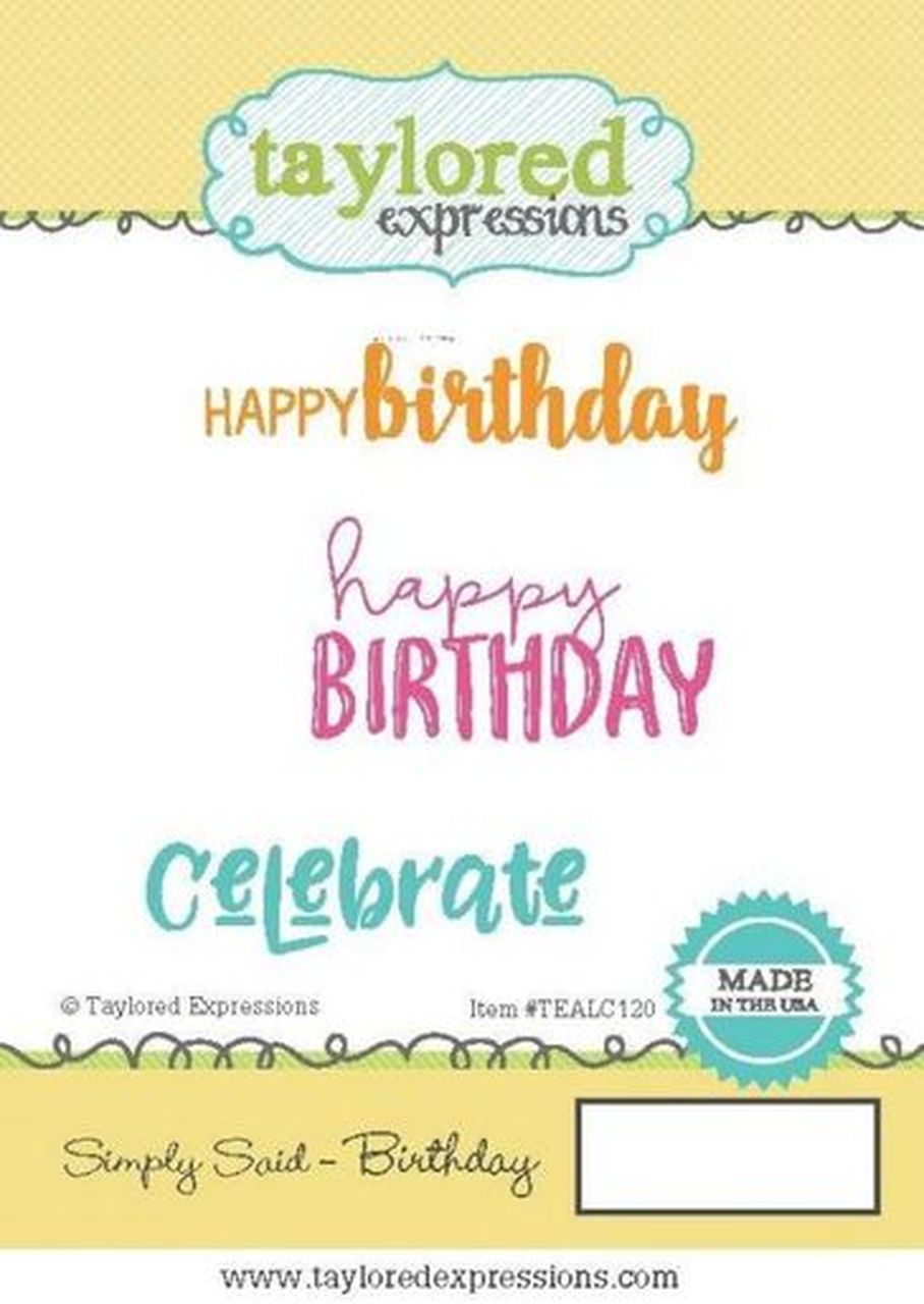 Taylored Expressions - Simply Said, Birthday Stamp Set