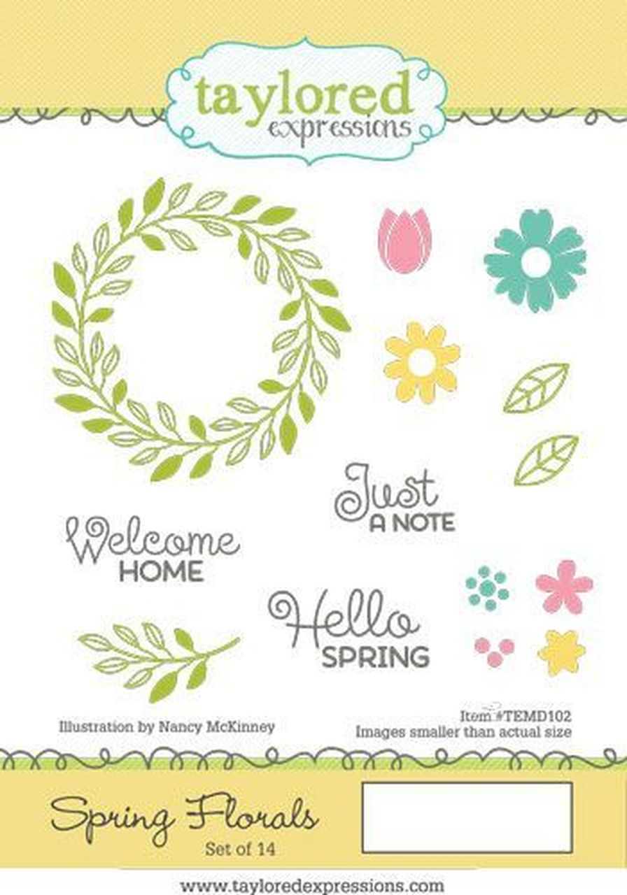 Taylored Expressions - Spring Florals Stamp Set