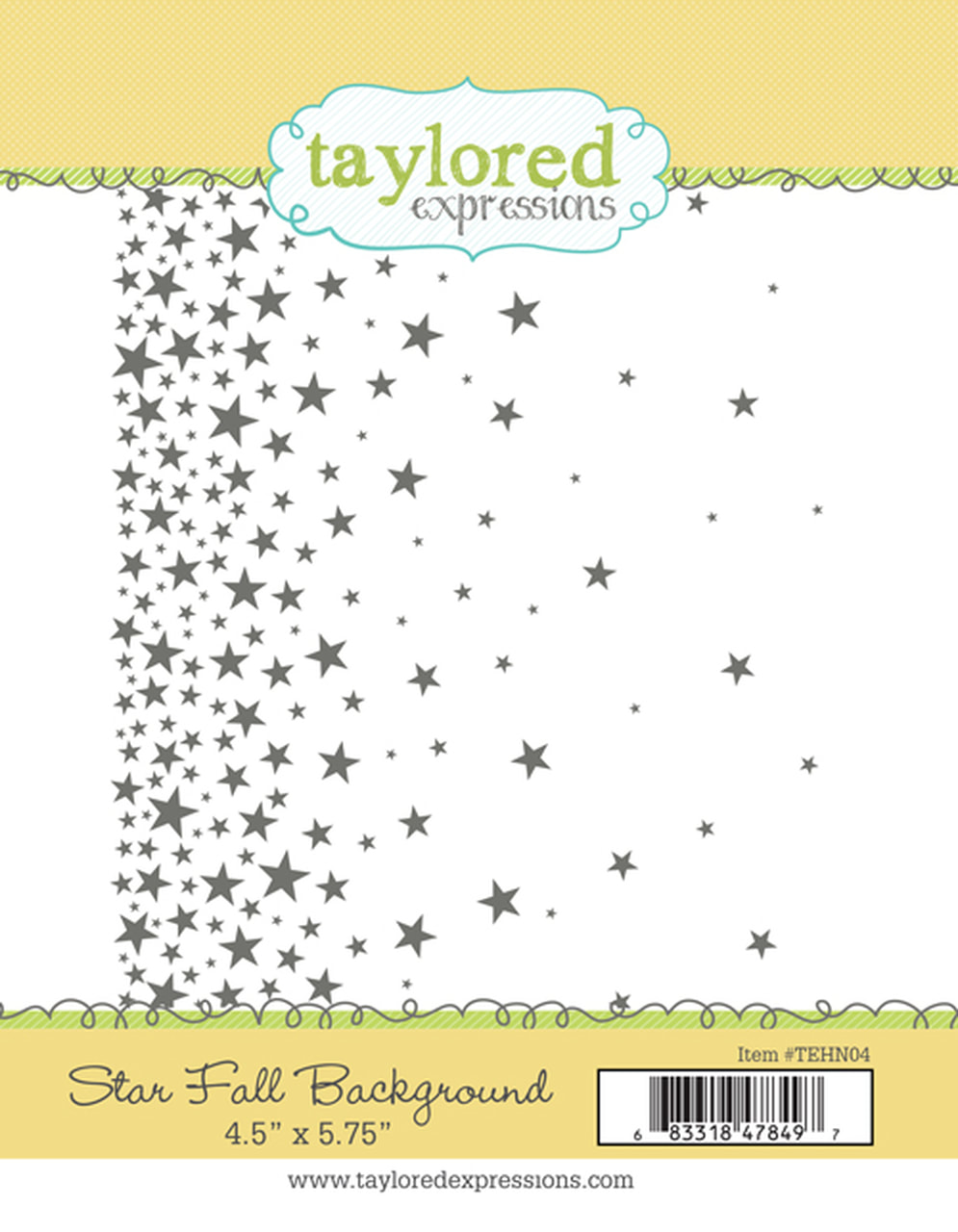 Taylored Expressions - Star Fall Background Stamp