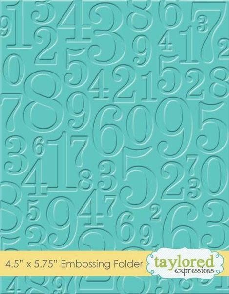 Taylored Expressions - Take a Number Embossing Folder