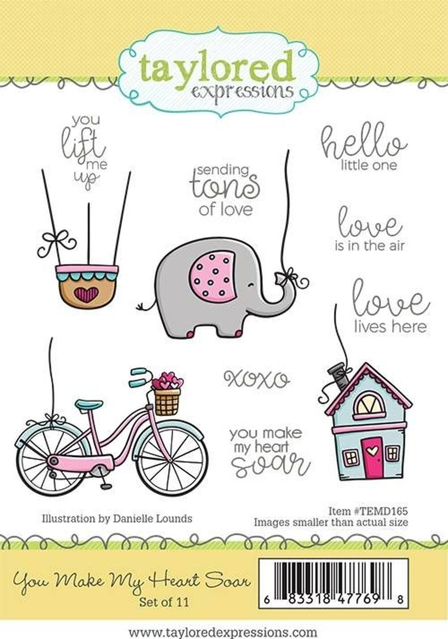 Taylored Expressions - You Make My Heart Soar Stamp Set