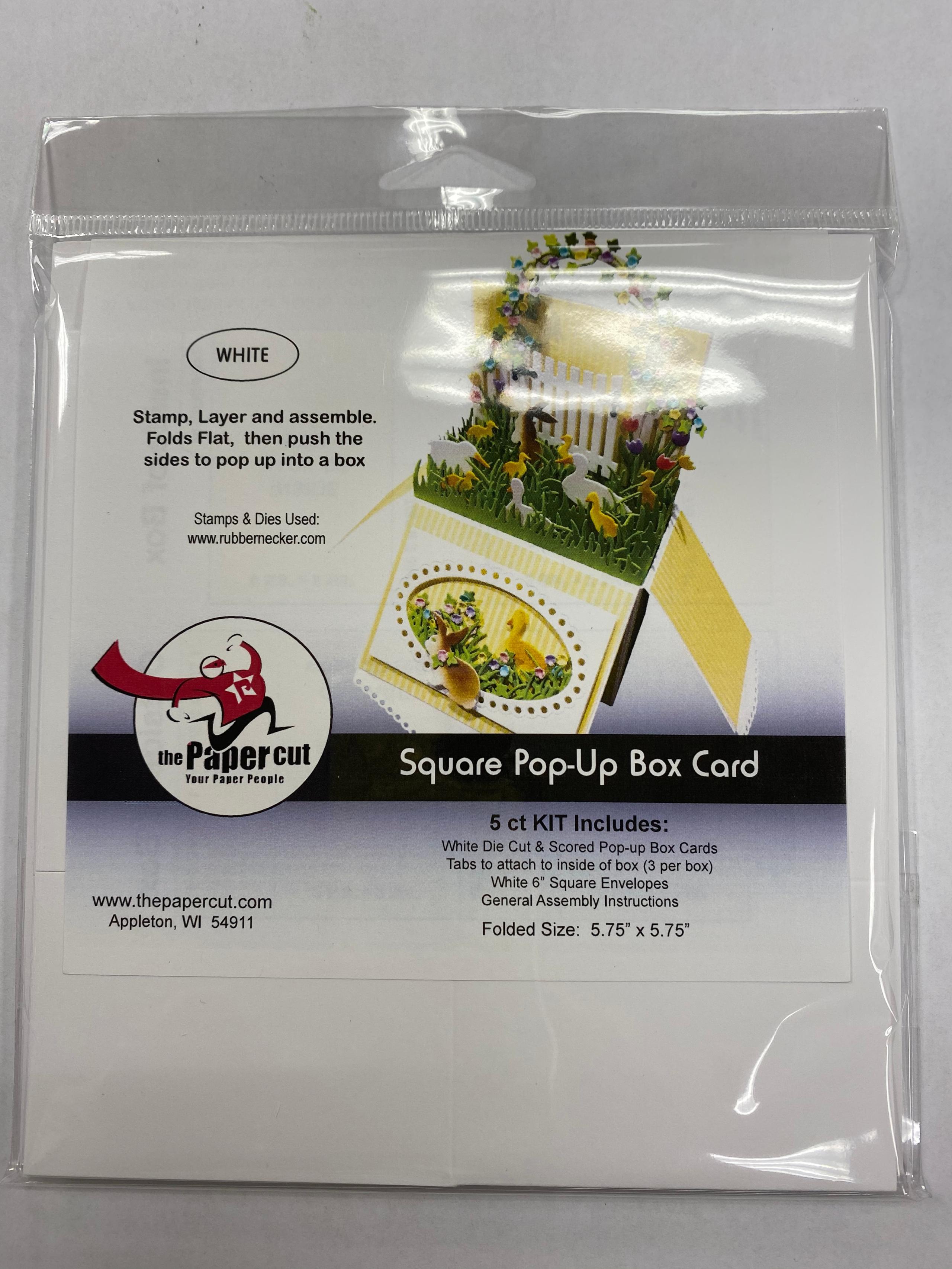 PC - Square Pop-Up Box Card
