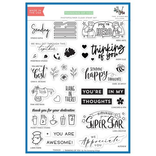 The Stamping Village - Thinking of You Stamp Set