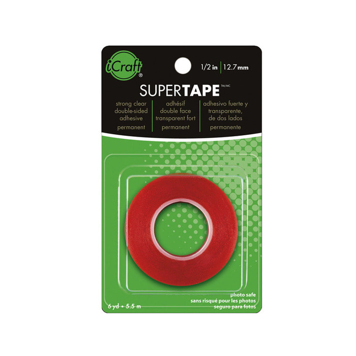Therm O Web - Super Tape - Double Sided Tape Roll (1/2 in x 6 yds)