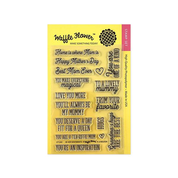Waffle Flower - Be Her Sentiments Stamp Set