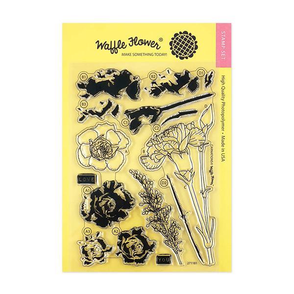 Waffle Flower - Carnations Stamp Set