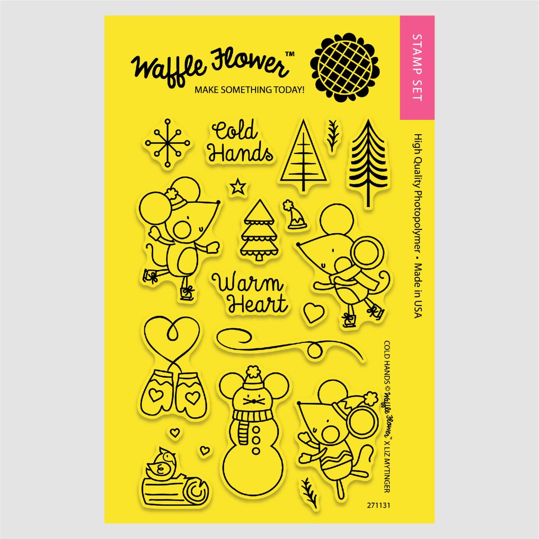 Waffle Flower - Cold Hands Stamp/Die Set