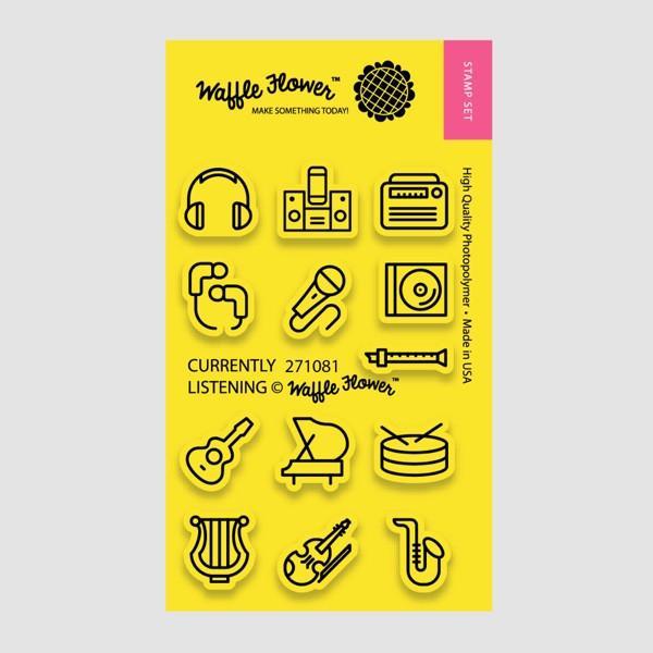 Waffle Flower - Currently Listening Stamp Set