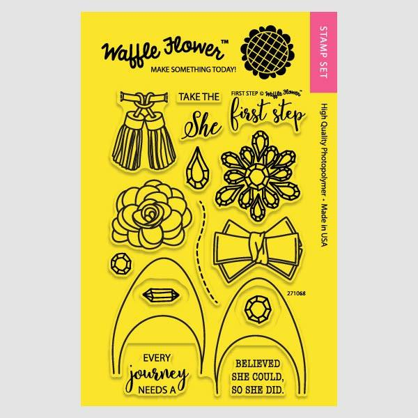 Waffle Flower - First Step Stamp/Die Set