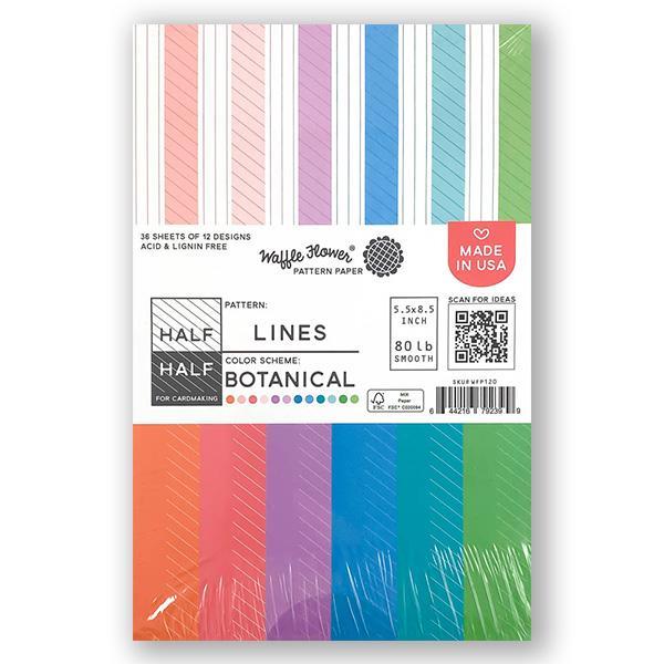 Waffle Flower - Half-Half Lines Botanical Paper Pad