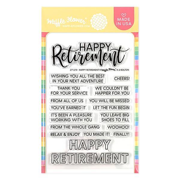 Waffle Flower - Happy Retirement Stamp Set
