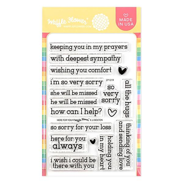 Waffle Flower - Here for You Stamp Set