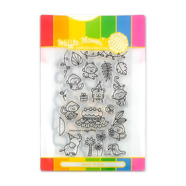 Waffle Flower - Jungle Birthday Stamp & Die Set