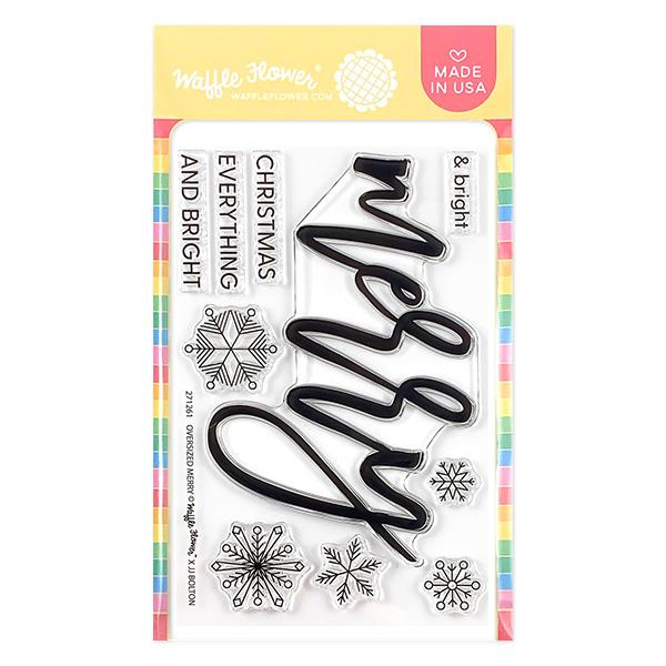 Waffle Flower - Oversided Merry Stamp Set