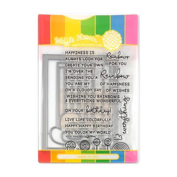 Waffle Flower - Rainbows Stamp & Die Combo