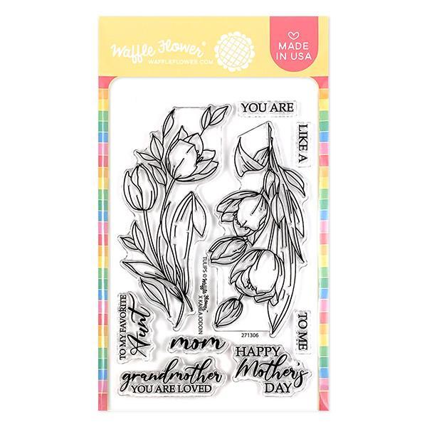 Waffle Flower - Tulips Stamp Set